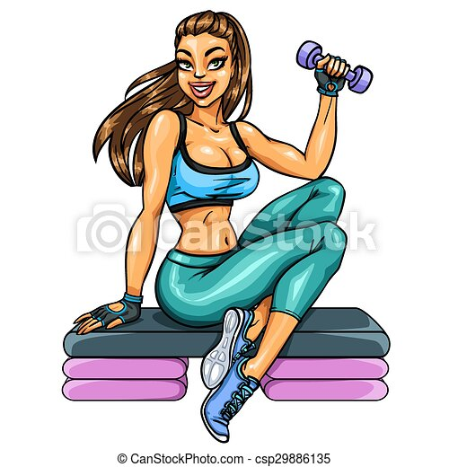 Beautiful fit woman - csp29886135
