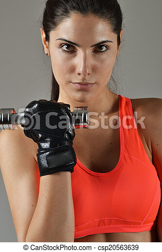 beautiful fitness woman working out - csp20563639