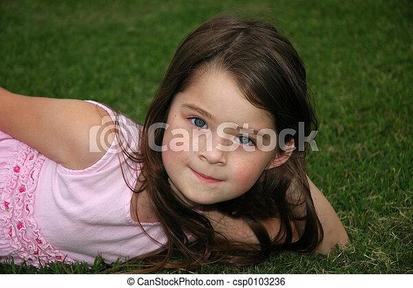 Beautiful Five Year Old Girl - csp0103236