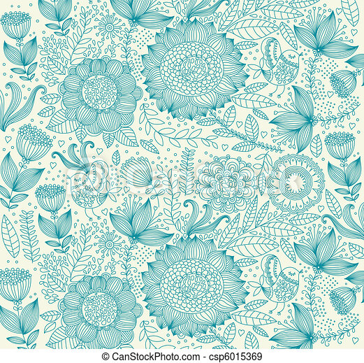 Beautiful floral background - csp6015369