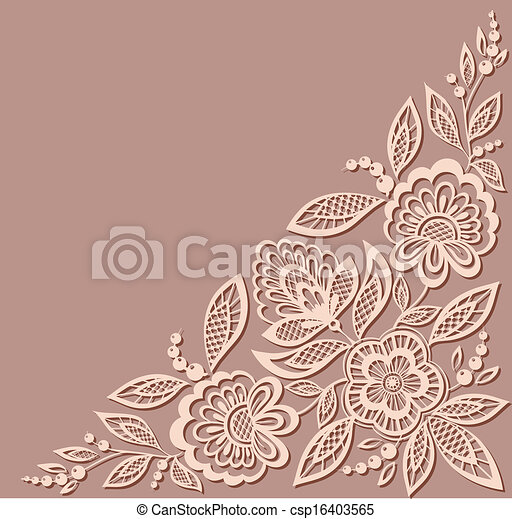 beautiful floral pattern, a design element in the old style. - csp16403565
