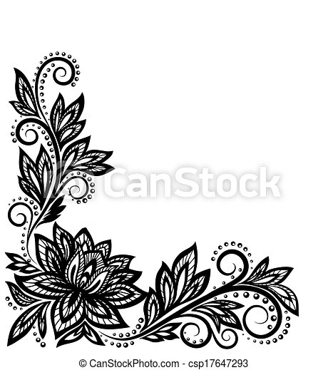 beautiful floral pattern a design element in the old style eps rh canstockphoto com floral pattern vector free download floral pattern vector free download
