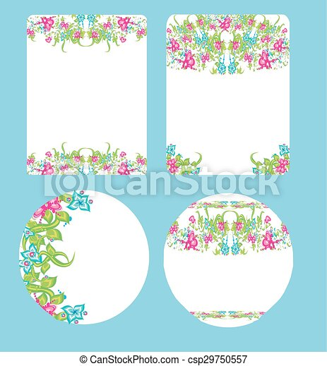 beautiful floral wedding design - csp29750557