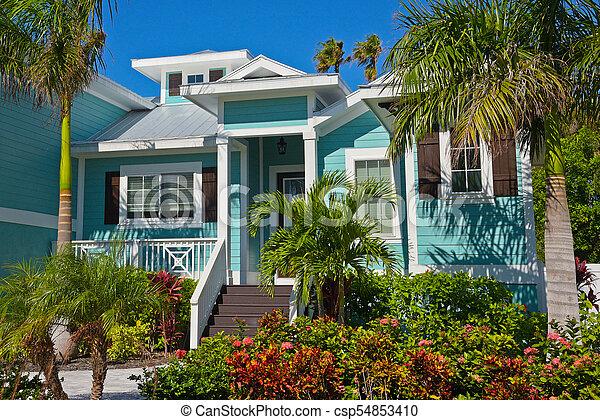 beautiful florida house beautiful new florida house with palms rh canstockphoto com florida house bills florida house of representatives