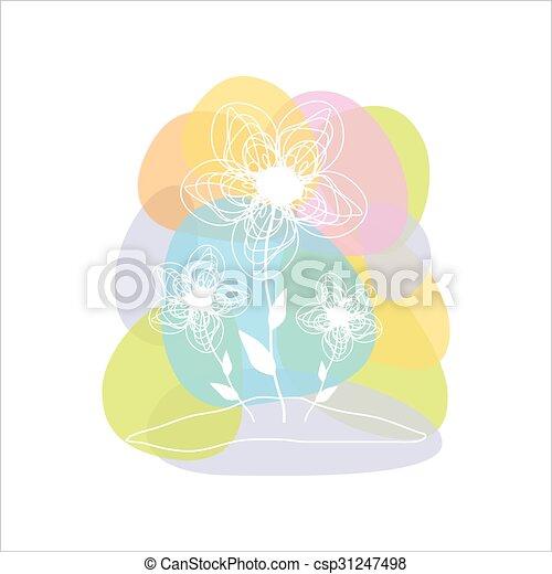 Beautiful flower card, vector. - csp31247498