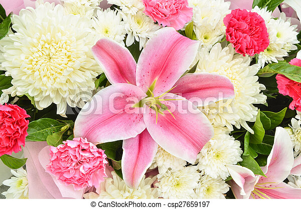 Beautiful flowers background - csp27659197