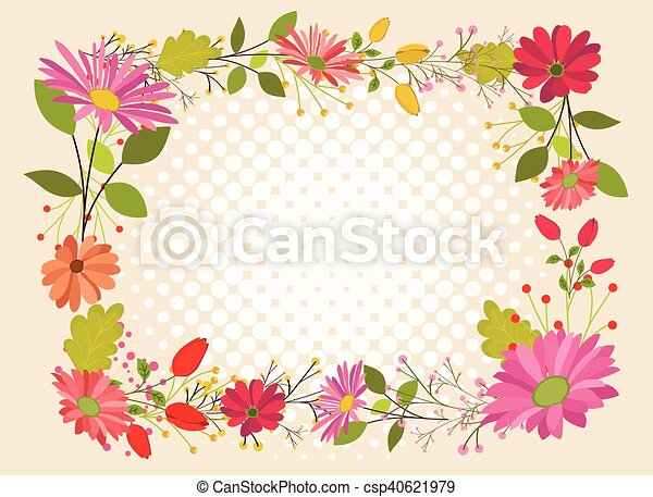 Beautiful Flowers Frame Design