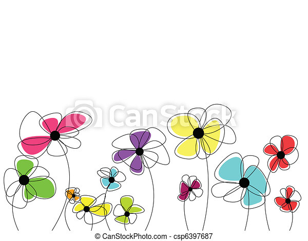 Beautiful flowers with amazing colorful blossoms - csp6397687