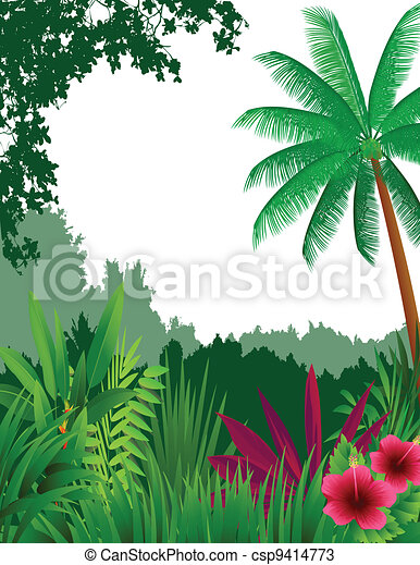 beautiful forest background - csp9414773
