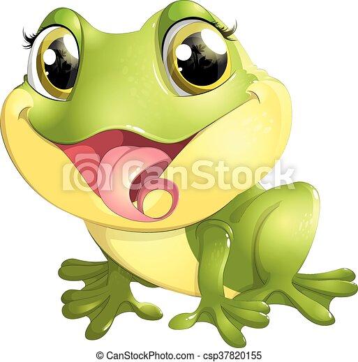 beautiful frog with big eyes - csp37820155
