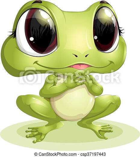 beautiful frog with big eyes - csp37197443