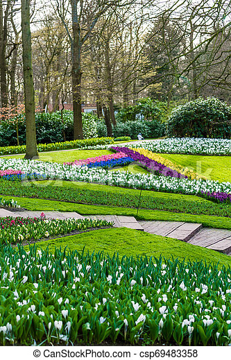 Beautiful garden in spring - csp69483358