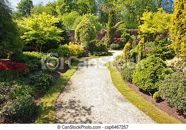 Beautiful garden in Spring time - csp6467257
