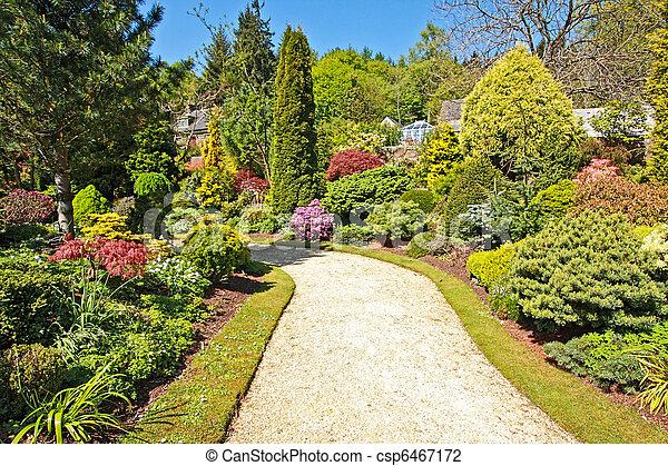 Beautiful garden in Spring time - csp6467172