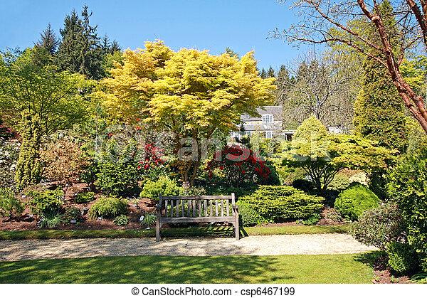 Beautiful garden in Spring time - csp6467199
