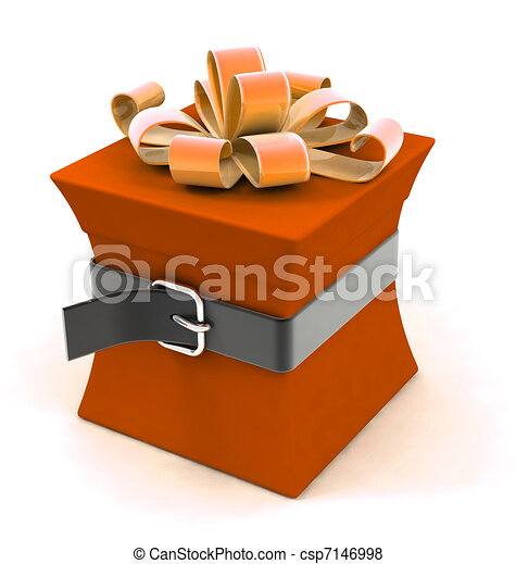 Beautiful gift box on a diet - csp7146998