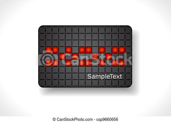 Beautiful gift card, vector - csp9660656