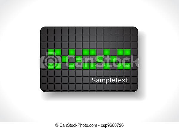 Beautiful gift card, vector - csp9660726