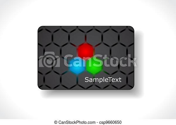 Beautiful gift card, vector - csp9660650