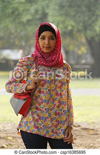 beautiful girl hijab , csp16385695