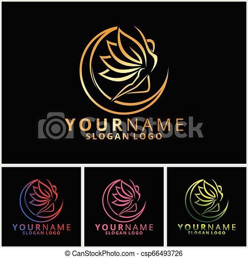 Beautiful girl logo 08 - csp66493726