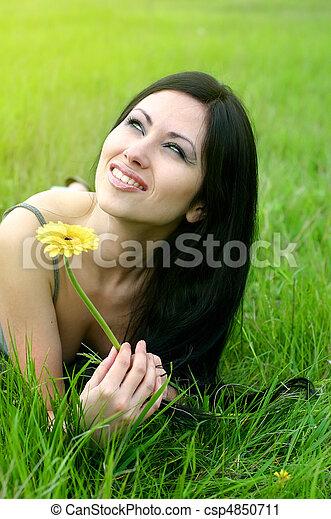 beautiful girl - csp4850711