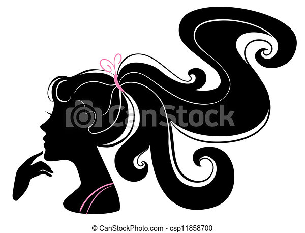 Beautiful girl silhouette - csp11858700