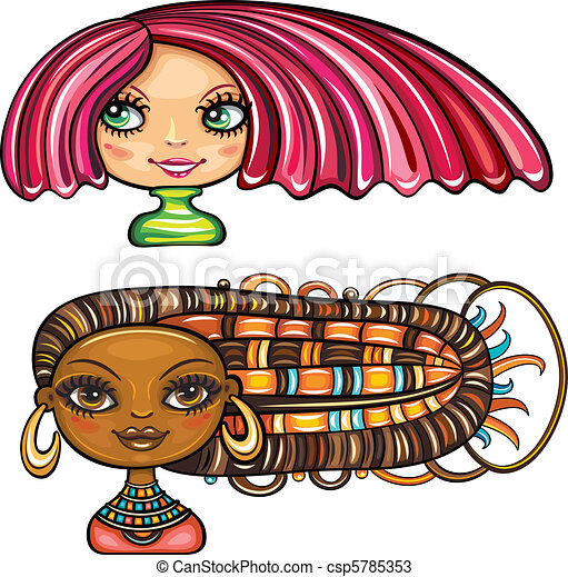 Beautiful girls with hair styles 1 - csp5785353