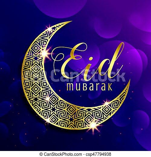 Beautiful gold moon eid mubarak festival greeting background beautiful gold moon eid mubarak festival greeting background csp47794938 m4hsunfo