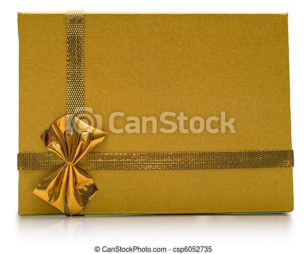 Beautiful golden gift - csp6052735