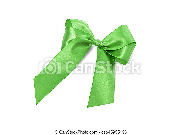Beautiful green bow. - csp45955136