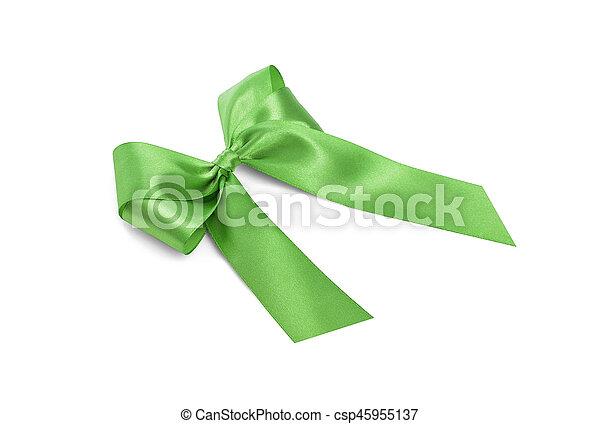 Beautiful green bow. - csp45955137