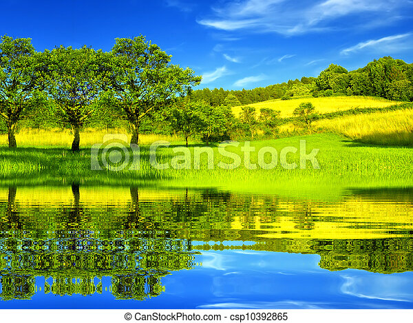 Beautiful green environment - csp10392865