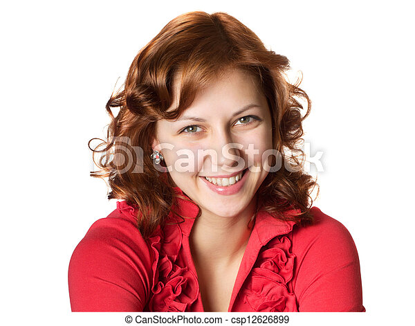 Beautiful green-eyed woman - csp12626899