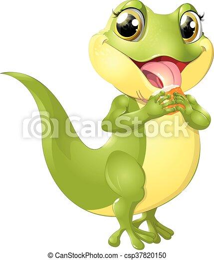 beautiful green lizard - csp37820150