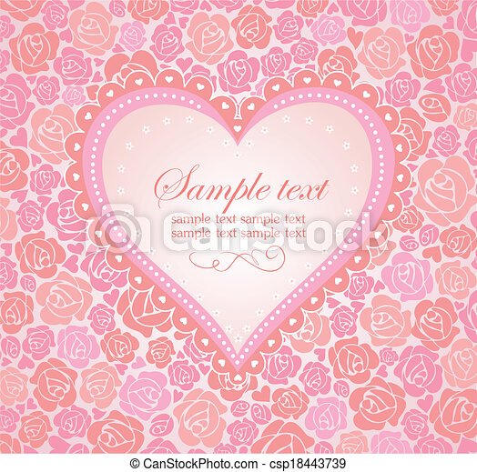 Beautiful greeting card with heart - csp18443739