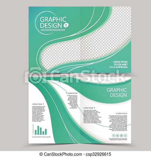 beautiful half fold brochure csp32926615