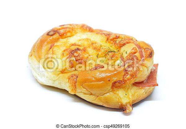 Beautiful ham cheese bun - csp49269105