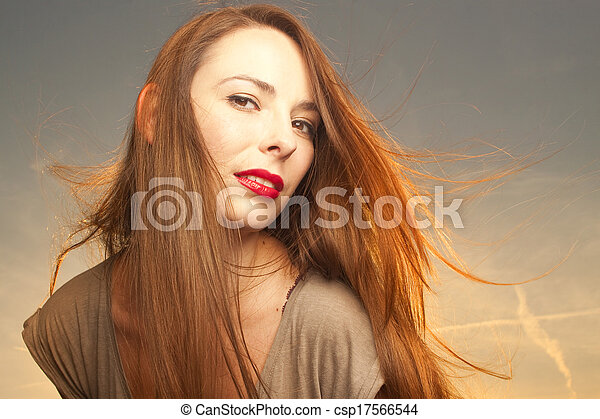 Beautiful, happy young woman  - csp17566544
