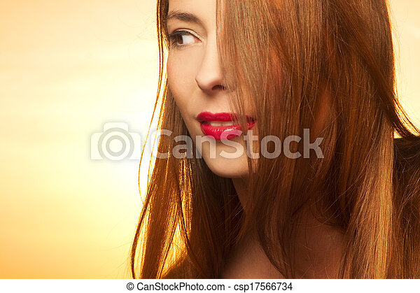 Beautiful, happy young woman  - csp17566734