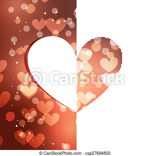 Vector beautiful heart background with bokeh effect clipart vector beautiful heart background csp27694850 voltagebd Images