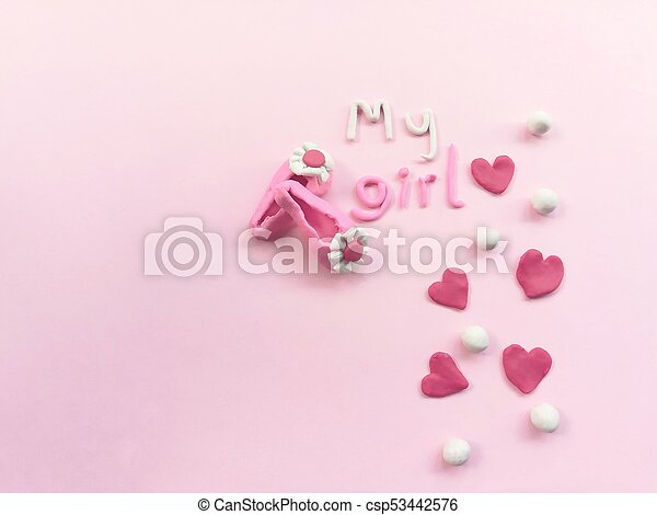 Beautiful Hearts Plasticine Girl Accessories Colorful Clay Dough Cute Wallpaper Pink Background