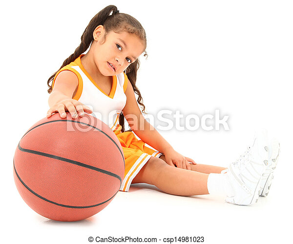 Beautiful Hispanic Basketball Girl - csp14981023