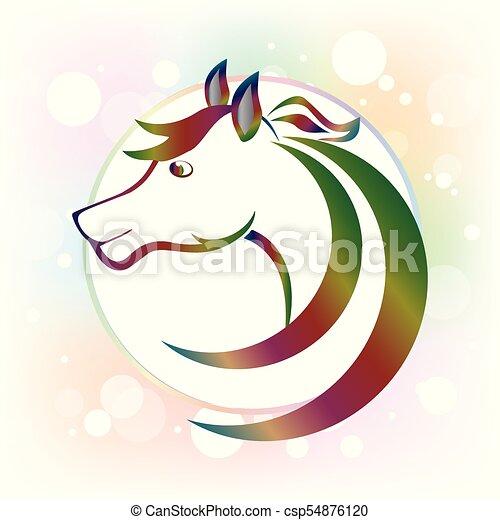 Beautiful horse logo - csp54876120