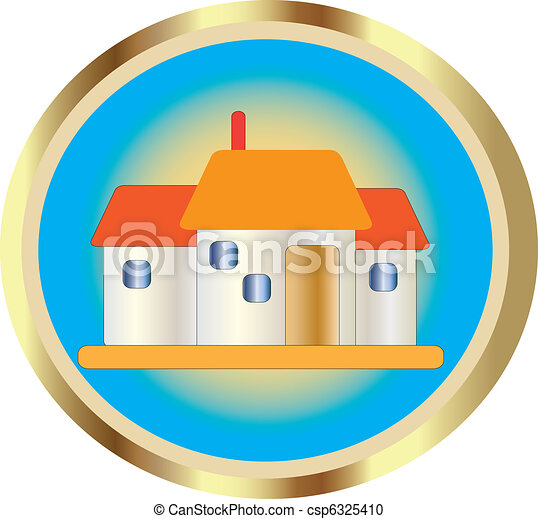 Beautiful House Icon - csp6325410