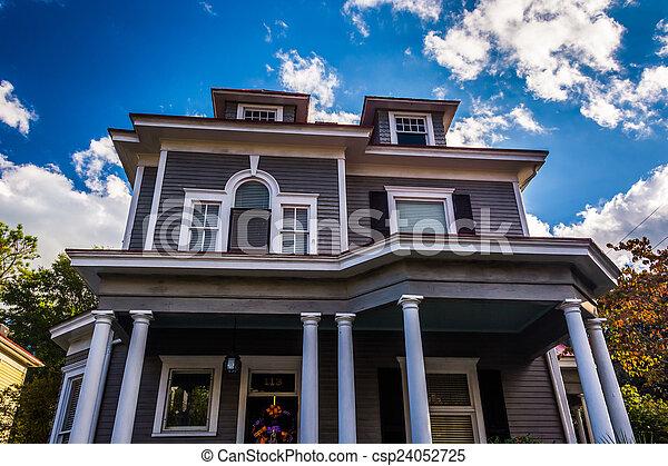Beautiful house in Charleston, South Carolina. - csp24052725