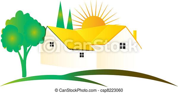 Beautiful House logo - csp8223060