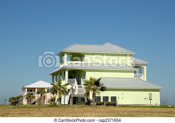 Beautiful houses in the southern United States - csp2371654