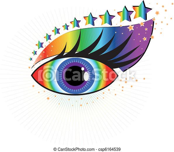 Beautiful human eye, vector  - csp6164539