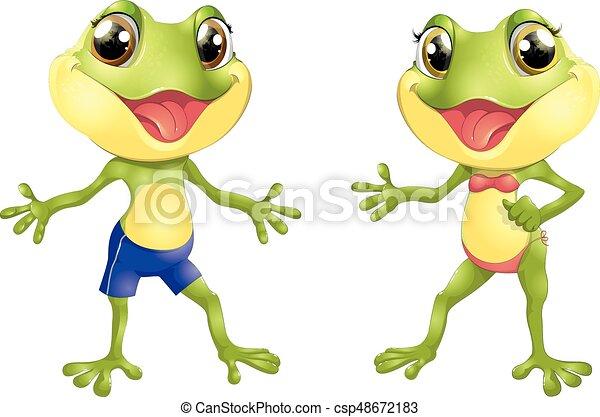 Beautiful humanoid frog - csp48672183